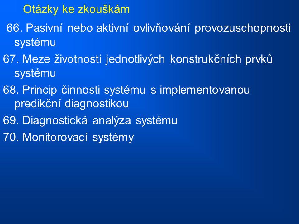 Otázky ke zkouškám 66.Pasivní nebo aktivní ovlivňování provozuschopnosti systému 67.