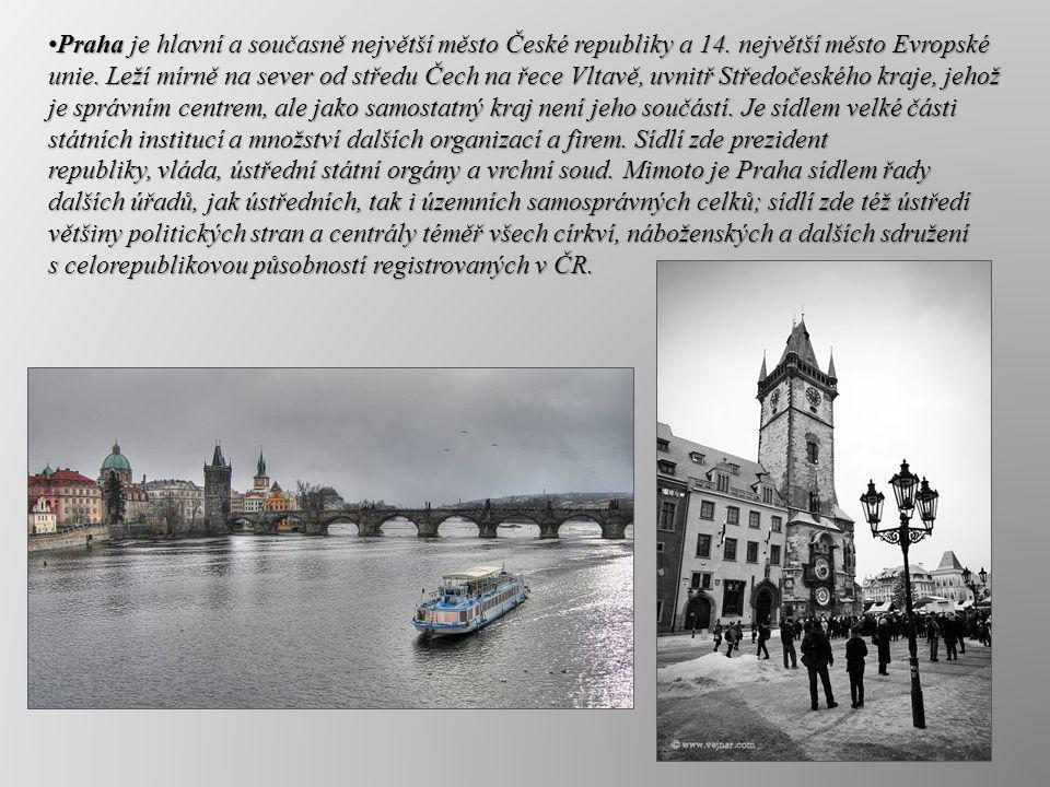 Do dnešní podoby se Praha vyvíjela jedenáct století.