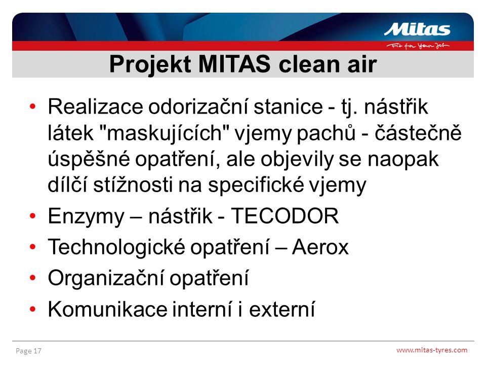 www.mitas-tyres.com Page 17 Realizace odorizační stanice - tj. nástřik látek