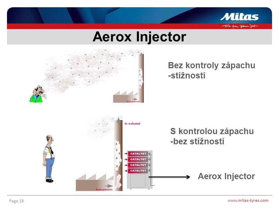 www.mitas-tyres.com Page 18 Aerox Injector Bez kontroly zápachu -stížnosti S kontrolou zápachu -bez stížností Aerox Injector