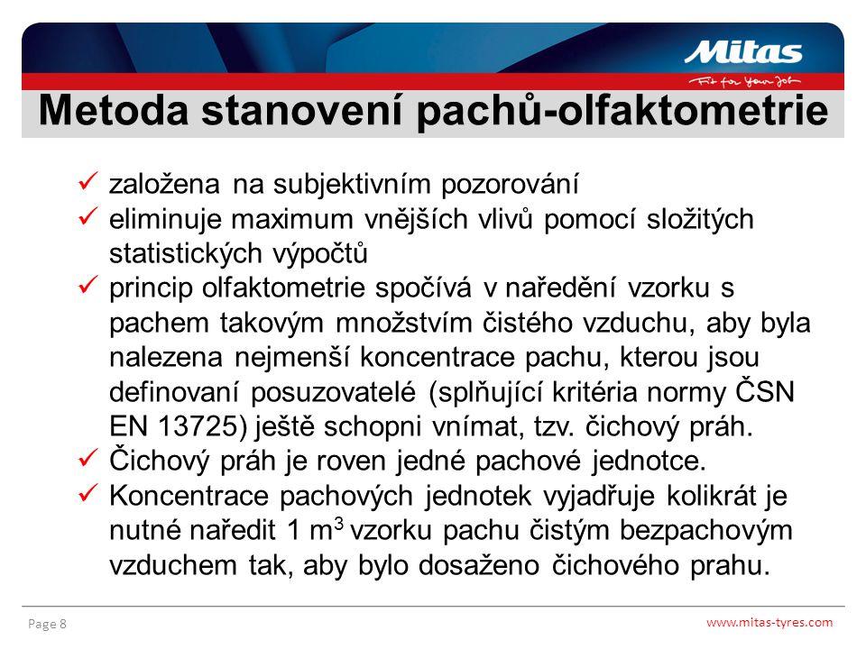 www.mitas-tyres.com Page 9 Olfaktometrie