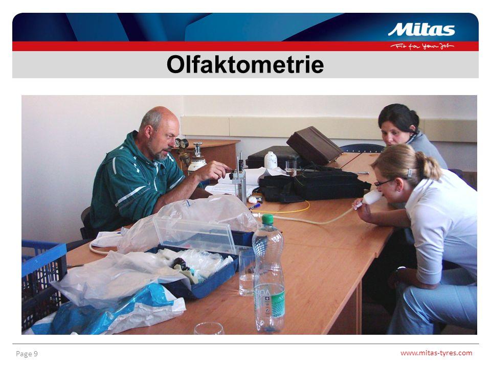 www.mitas-tyres.com Page 10 Olfaktometrie