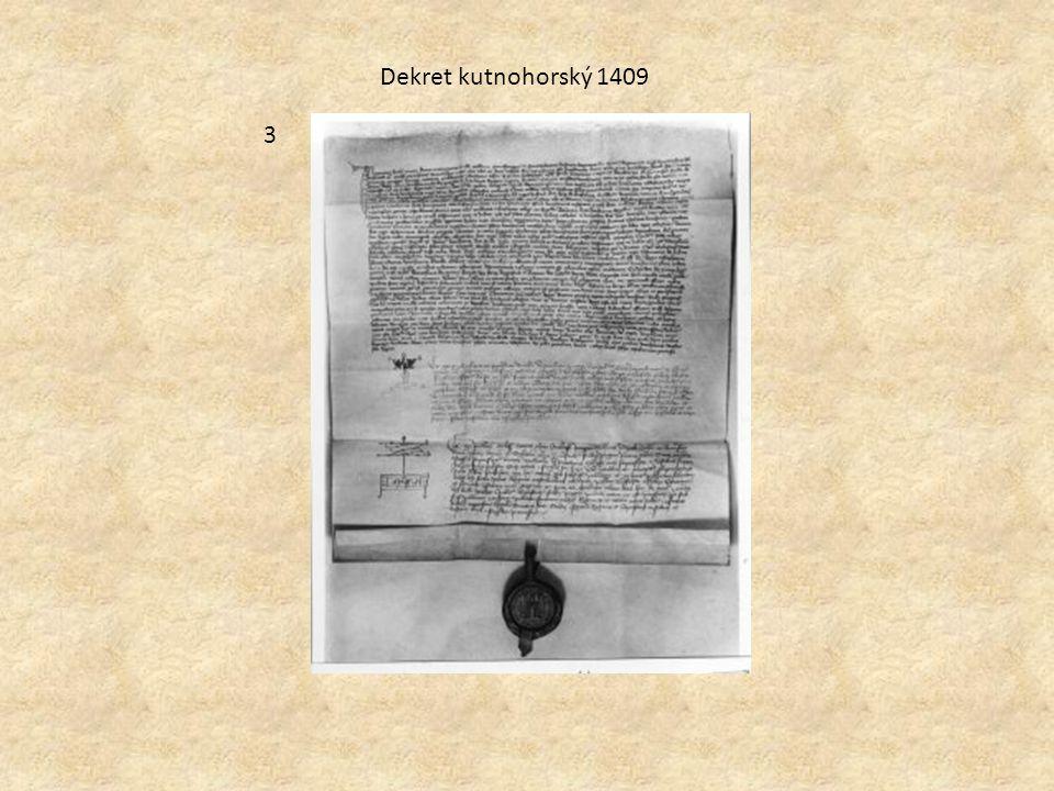Dekret kutnohorský 1409 3