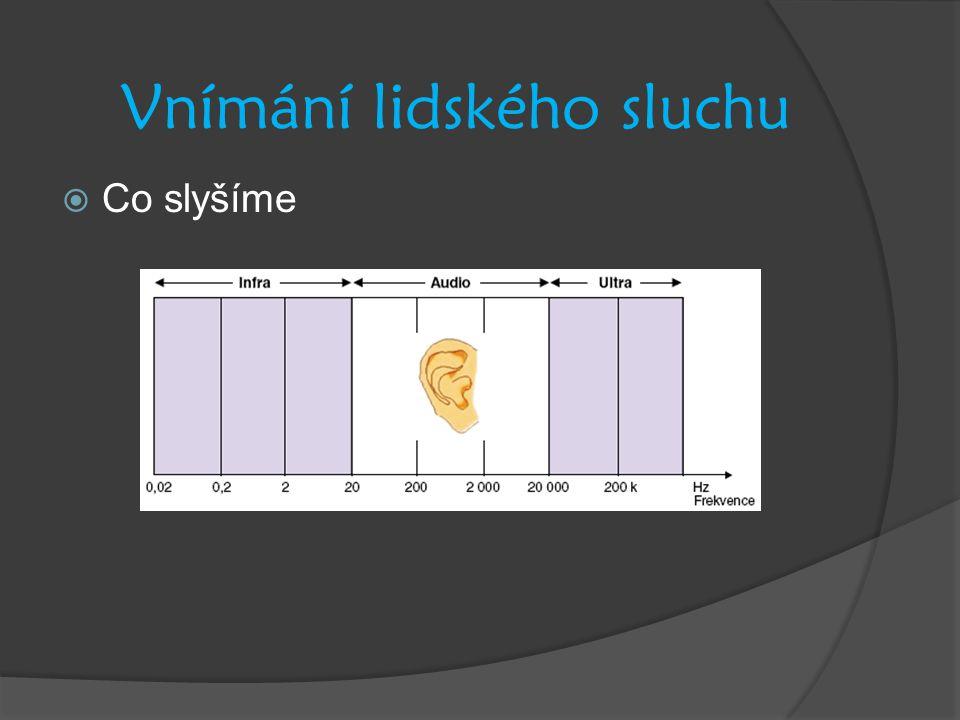 Vnímání lidského sluchu  Co slyšíme