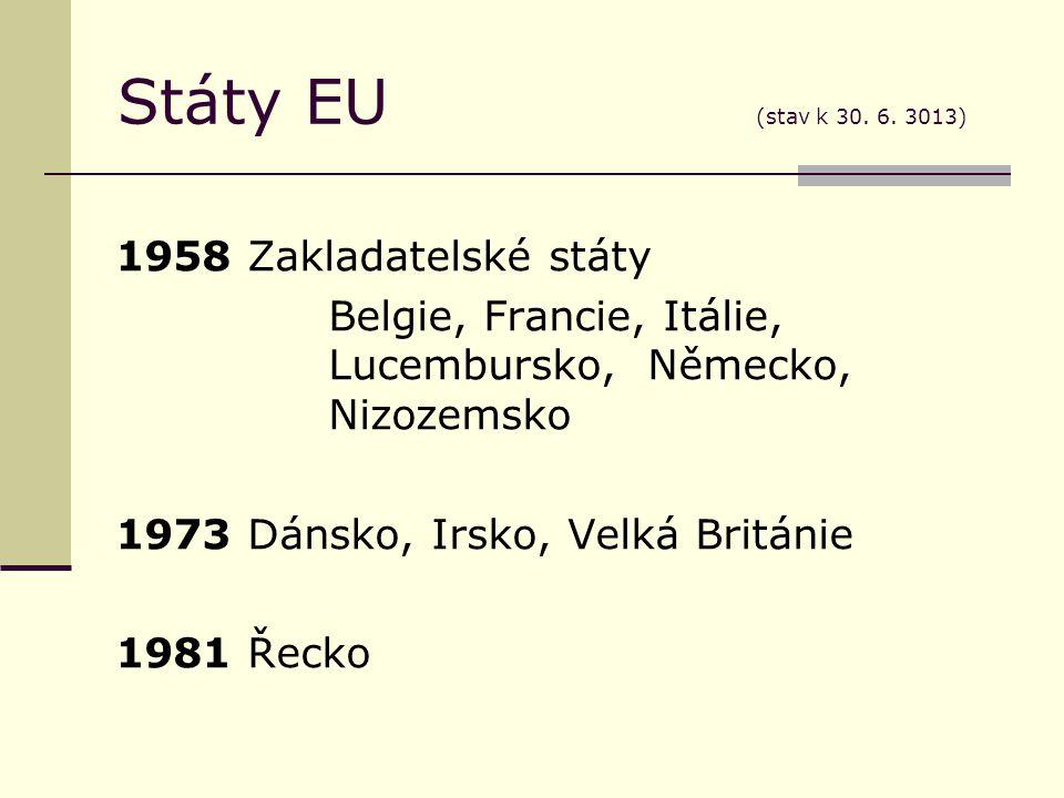 Státy EU (stav k 30. 6.