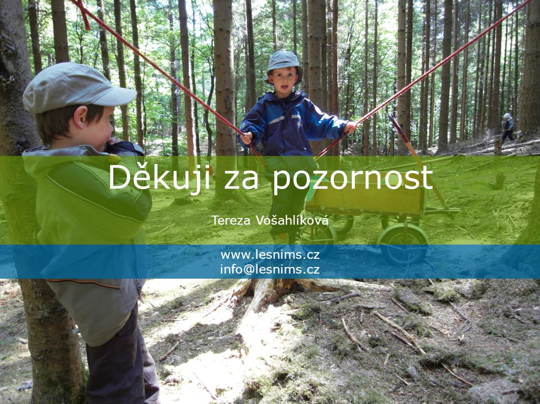 Děkuji za pozornost Tereza Vošahlíková www.lesnims.cz info@lesnims.cz