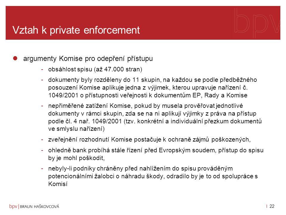 l 21 Vztah k private enforcement rozhodnutí ve věci T-2/03 ze dne 13.