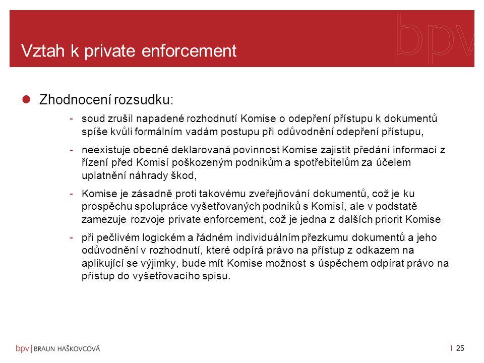 """l 24 Vztah k private enforcement závěry a argumentace SPI -žádost o přístup týkající se zjevně nepřiměřeného počtu dokumentů, popřípadě z bezvýznamných důvodů, a způsobí tak vyřizováním své žádosti pracovní zatížení, které by mohlo významně narušit řádné fungování orgánu, -týká se velkého počtu dokumentů, právo orgánu usilovat s žadatelem o nalezení """"přijatelného řešení na základě čl."""