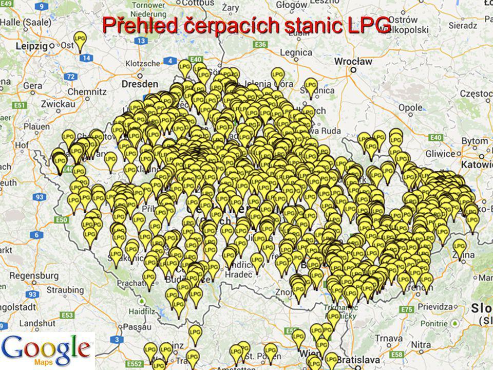 Přehled čerpacích stanic LPG