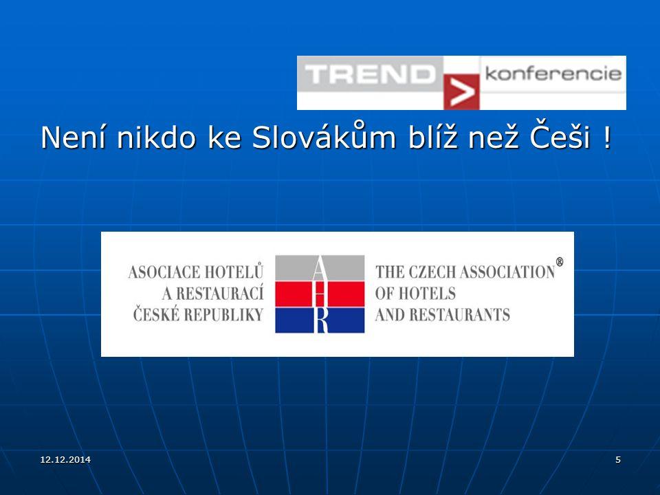 12.12.20145 Není nikdo ke Slovákům blíž než Češi !