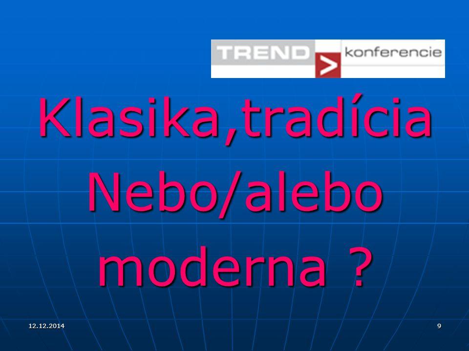 12.12.20149 Klasika,tradíciaNebo/alebo moderna ?