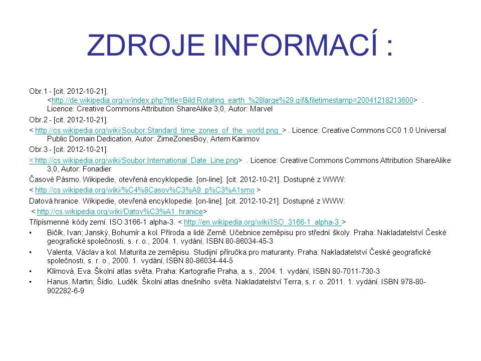 ZDROJE INFORMACÍ : Obr.1 - [cit. 2012-10-21].. Licence: Creative Commons Attribution ShareAlike 3,0, Autor: Marvelhttp://de.wikipedia.org/w/index.php?