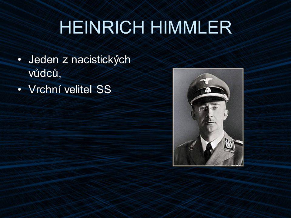 HEINRICH HIMMLER Jeden z nacistických vůdců, Vrchní velitel SS