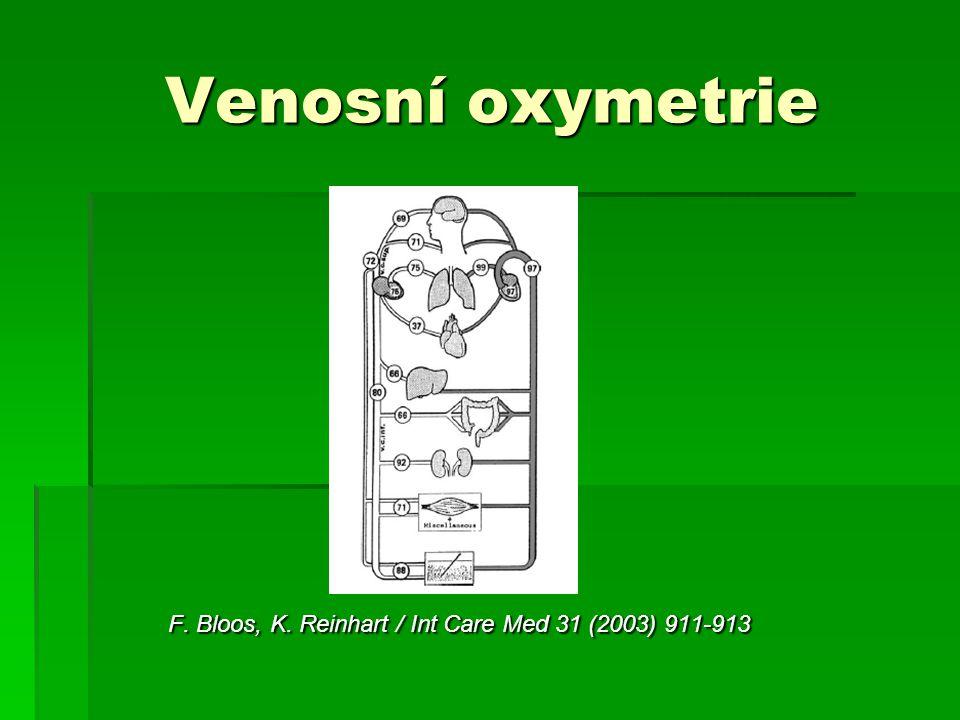 Venosní oxymetrie Venosní oxymetrie F. Bloos, K. Reinhart / Int Care Med 31 (2003) 911-913 F. Bloos, K. Reinhart / Int Care Med 31 (2003) 911-913