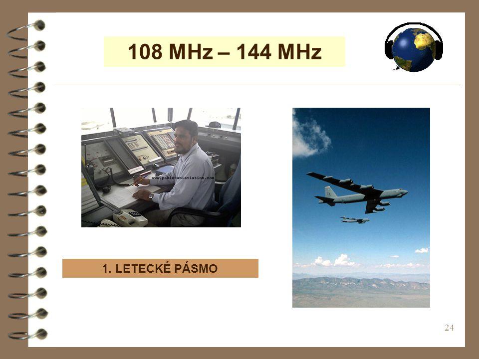 24 108 MHz – 144 MHz 1. LETECKÉ PÁSMO