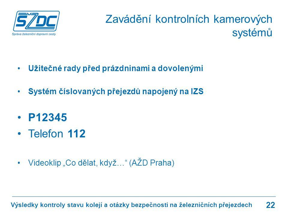 www.szdc.cz © Správa železniční dopravní cesty, státní organizace Výsledky kontroly stavu kolejí a otázky bezpečnosti na železničních přejezdech
