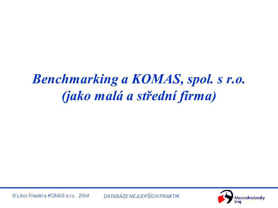 Benchmarking v malé a střední firmě © Libor Friedel a KOMAS s.r.o., 2004 DATABÁZE NEJLEPŠÍCH PRAKTIK © RADAR RResults (výsledky) –Trendy, cíle, srovná