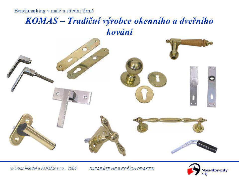 Benchmarking v malé a střední firmě © Libor Friedel a KOMAS s.r.o., 2004 DATABÁZE NEJLEPŠÍCH PRAKTIK KOMAS – Zákazníci v automobilovém průmyslu