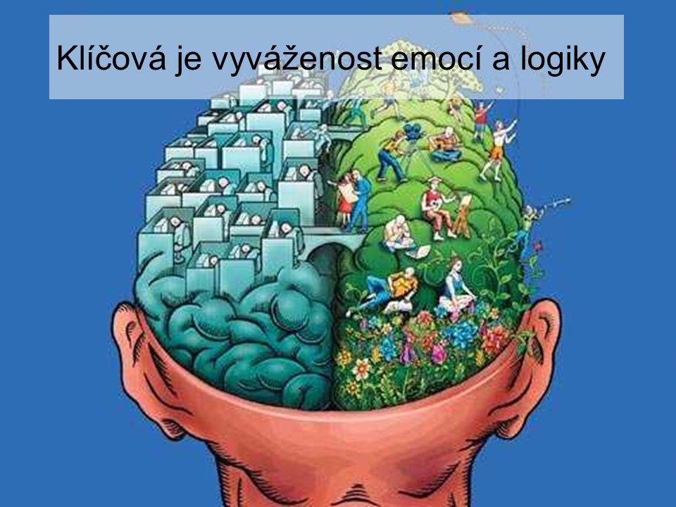 Klíčová je vyváženost emocí a logiky