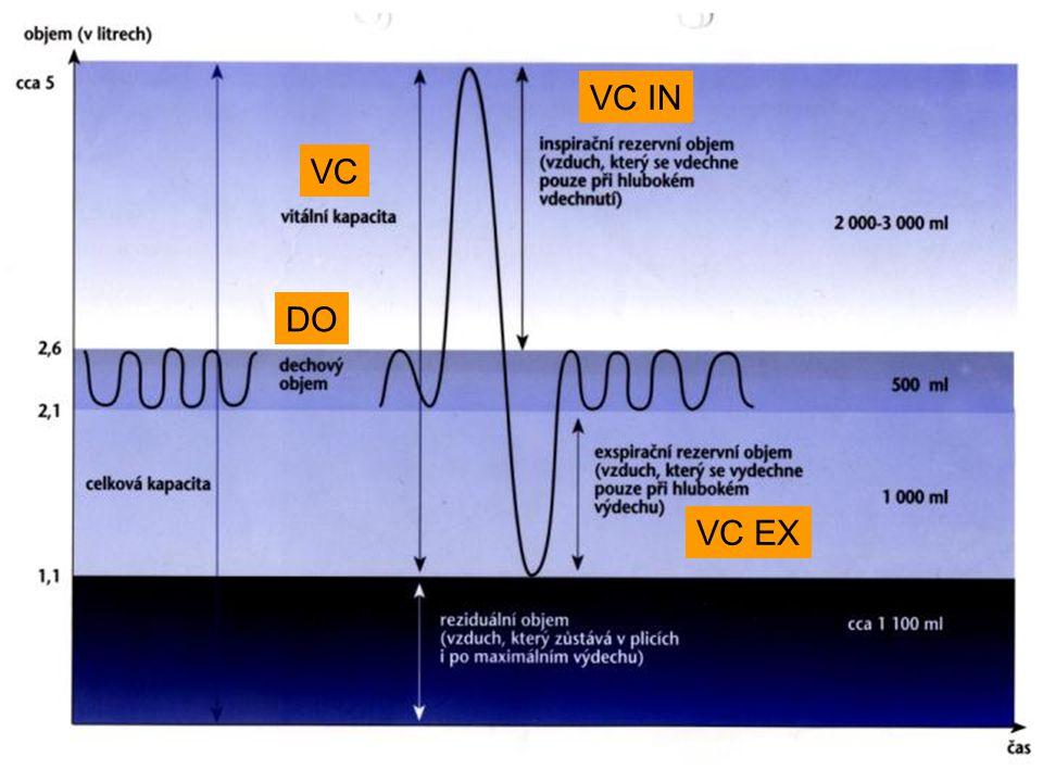 Mechanika dýchání při práci: plicní ventilace v klidu: brániční dýchání u netrénovaného 30-40%, u trénovaného 50-60% při práci se podíl bráničního dýchání ↑, postupně přechod dýchání do inspirační polohy (do IRV), do DF 40 se nepoužívá výdechové svalstvo, při ↑DF se zapojují výdechové svaly → ↑spotřeba energie; →lepší je ↑DO a ↓DF
