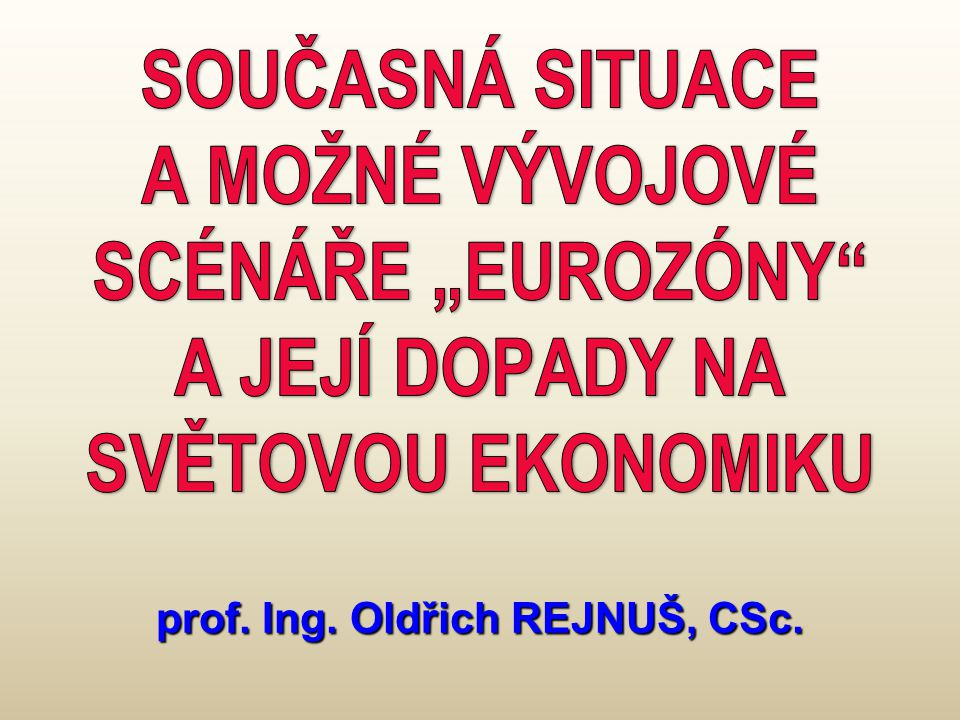 prof. Ing. Oldřich REJNUŠ, CSc.