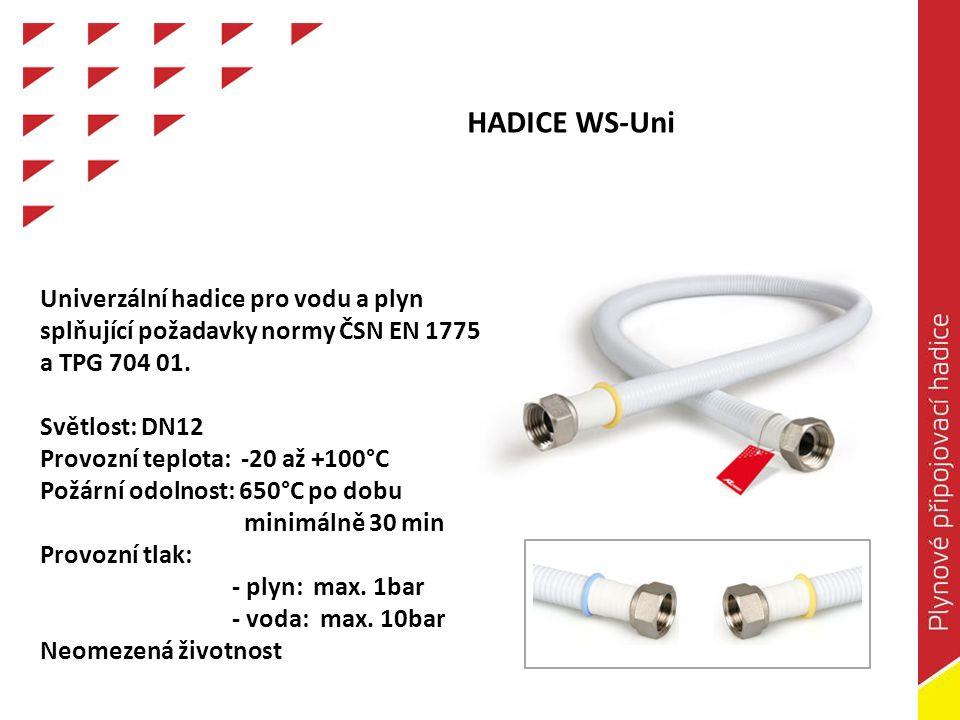 Světlost: DN10 Max.provozní přetlak: 0,1bar (10kPa) Média: pouze topné plyny Max.