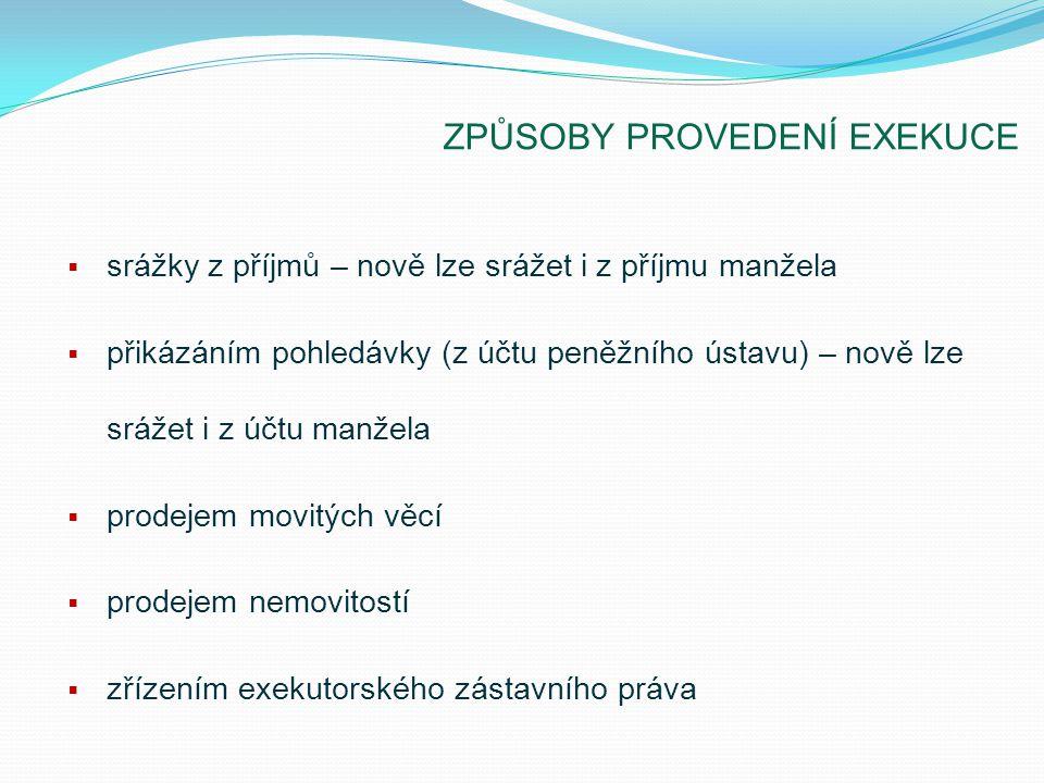 SRÁŽKY Z PŘÍJMŮ Příjmy, ze kterých lze provádět srážky:  mzda a plat  důchod - §299 odst.
