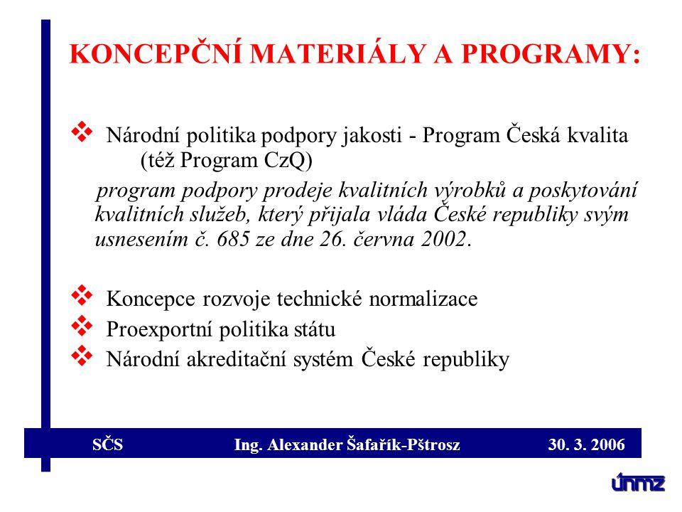 SČS Ing.Alexander Šafařík-Pštrosz 30. 3. 2006 CERTIFIKACE V PŮSOBNOSTI ZÁKONA Č.