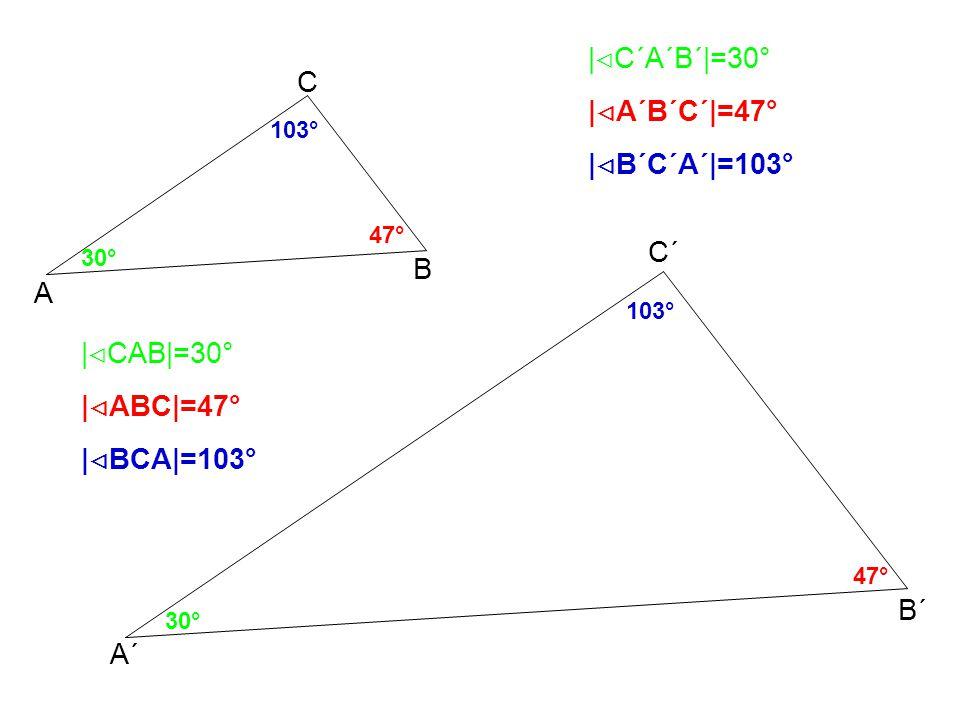 Znění větyOznačení věty Příklad pro trojúhelníky A´B´C´a ABC Každé dva trojúhelníky, které mají sobě rovné poměry délek všech tří dvojic odpovídajících si stran, jsou si podobné.
