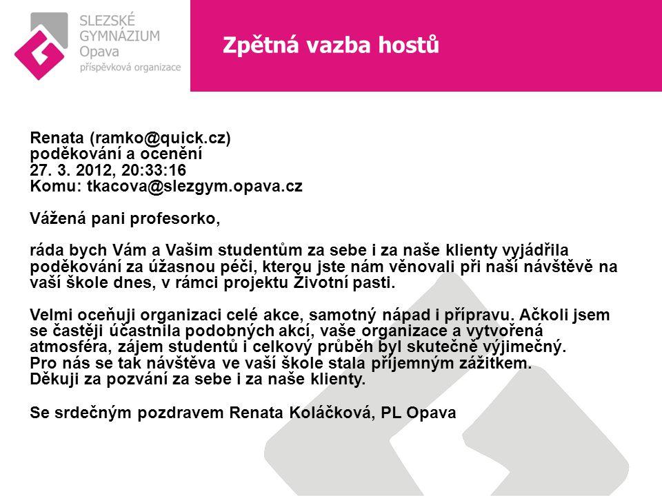 Renata (ramko@quick.cz) poděkování a ocenění 27. 3.