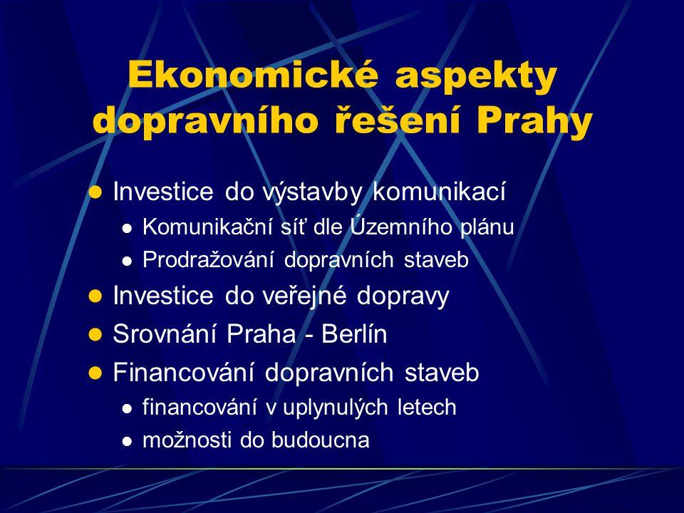 Závěr Současná dopravní koncepce Prahy je finančně nereálná U jednotlivých investic není objektivně hodnocen jejich společenský přínos ve vztahu k nákladům Při prokračování výstavby MO hrozí, že vznikne nefunkční torzo, a to současně s finančním vyčerpáním města Proto je naprosto nezbytné hledat jiné, méně investičně náročné dopravní řešení Prahy
