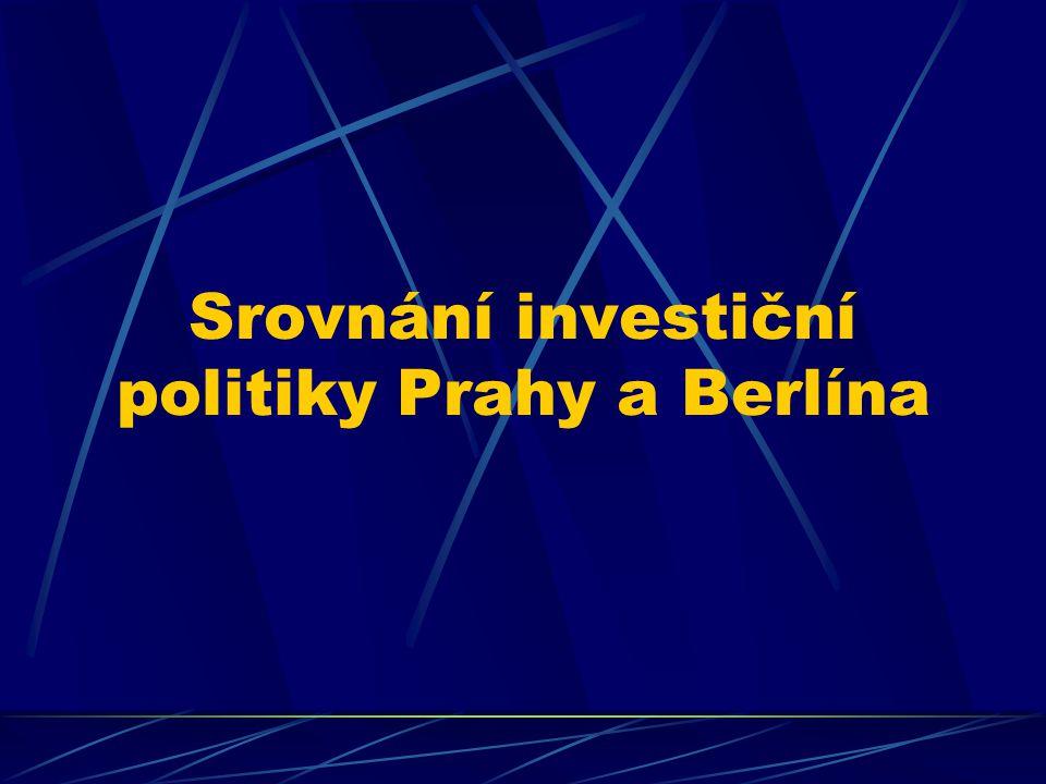 Srovnání investiční politiky Prahy a Berlína