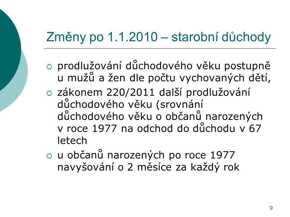 10 Starobní důchody  § 29 odst.