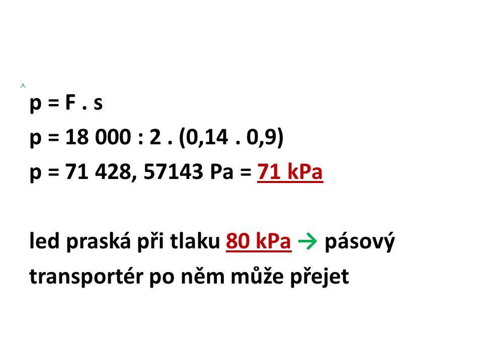 p = F.s p = 18 000 : 2. (0,14.