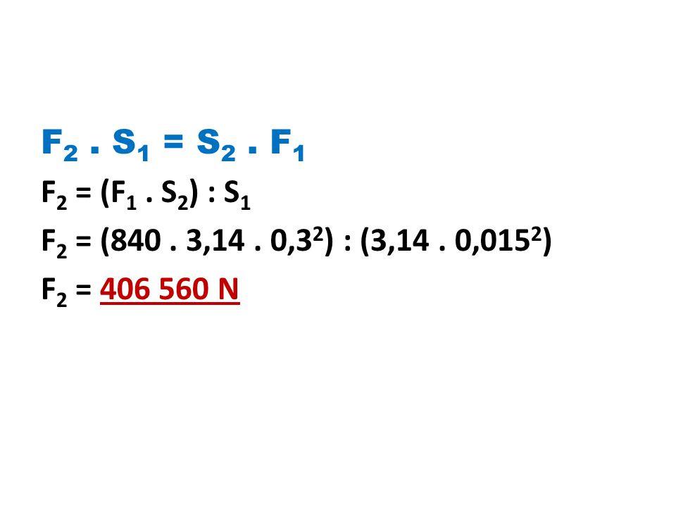 F 2.S 1 = S 2. F 1 F 2 = (F 1. S 2 ) : S 1 F 2 = (840.