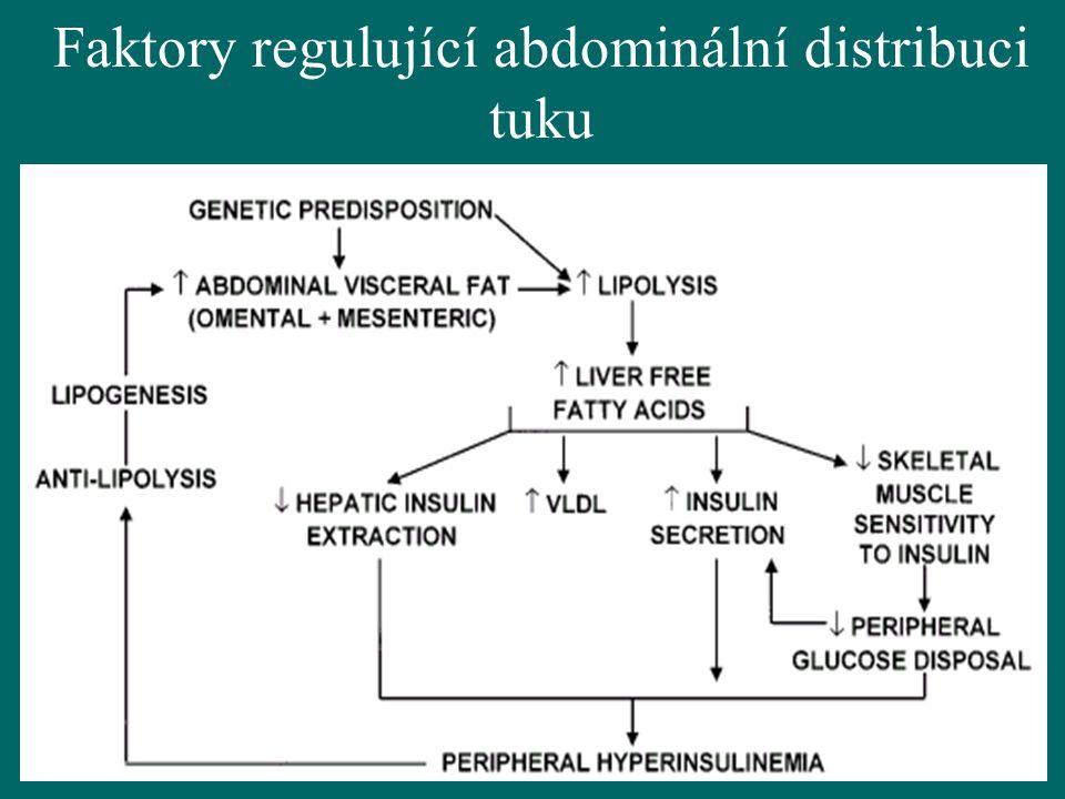 9 Faktory regulující abdominální distribuci tuku