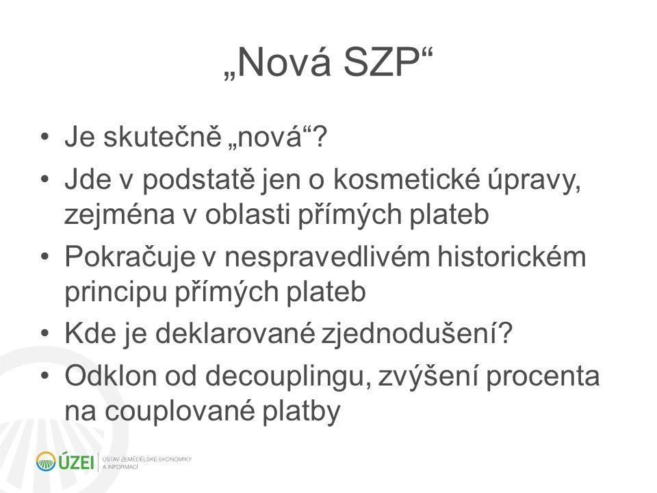 """""""Nová SZP"""" Je skutečně """"nová""""? Jde v podstatě jen o kosmetické úpravy, zejména v oblasti přímých plateb Pokračuje v nespravedlivém historickém princip"""