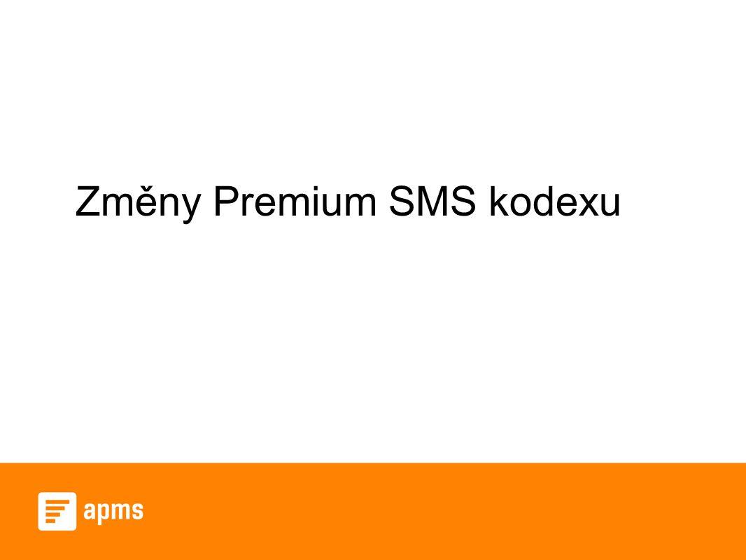 Změny Premium SMS kodexu