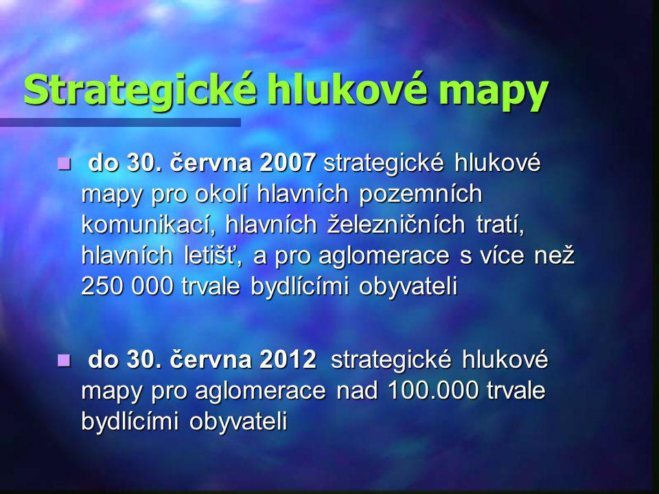 Strategické hlukové mapy do 30.