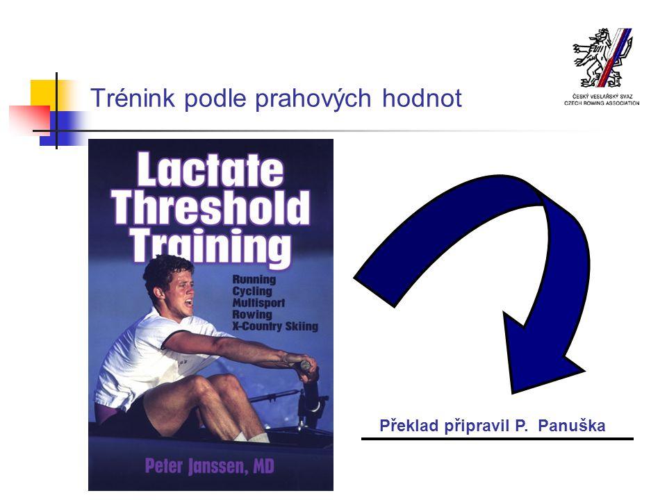 Trénink podle prahových hodnot Překlad připravil P. Panuška