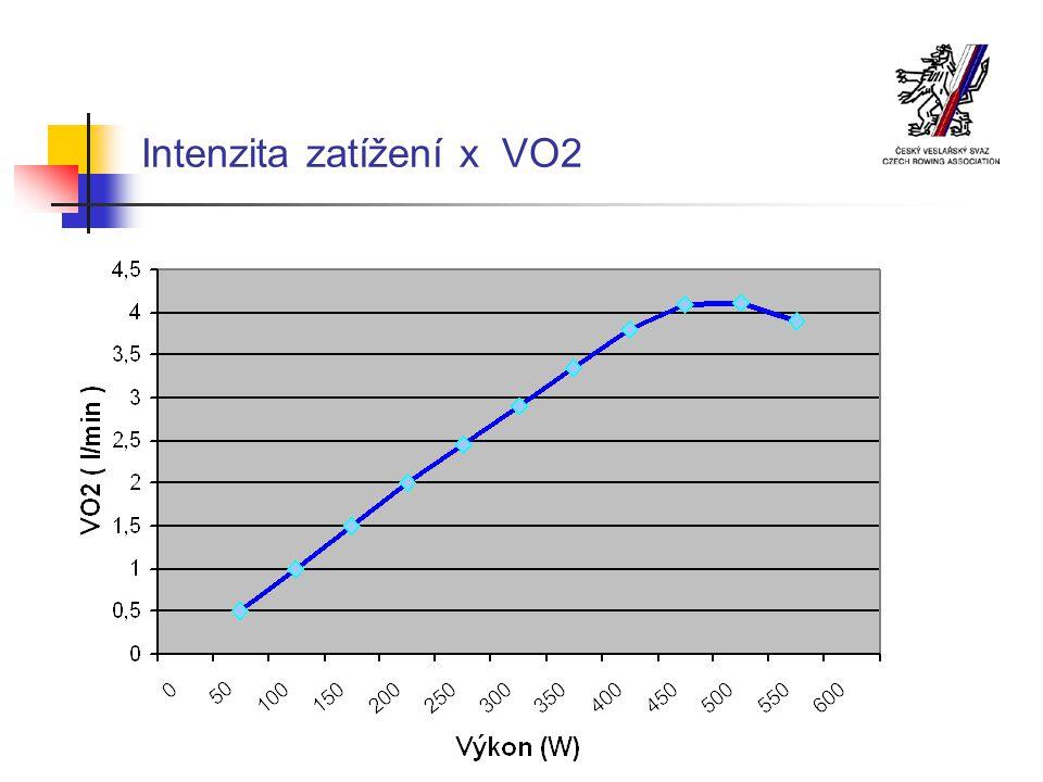 Intenzita zatížení x VO2