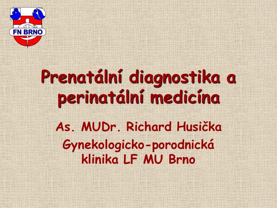 Prenatální diagnostika a perinatální medicína As. MUDr. Richard Husička Gynekologicko-porodnická klinika LF MU Brno