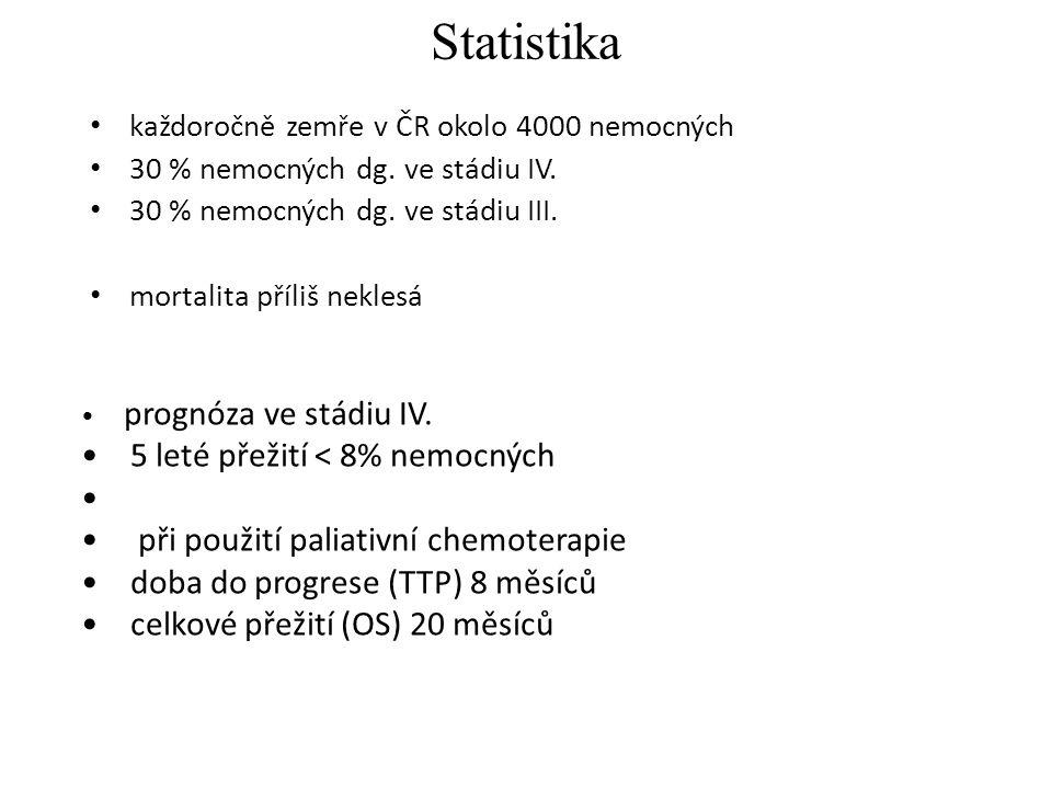 Statistika každoročně zemře v ČR okolo 4000 nemocných 30 % nemocných dg.
