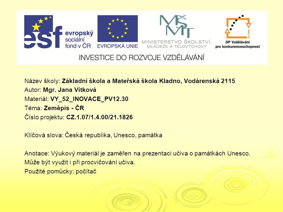 VY_52_INOVACE_PV12.30 VY_52_INOVACE_PV12.30
