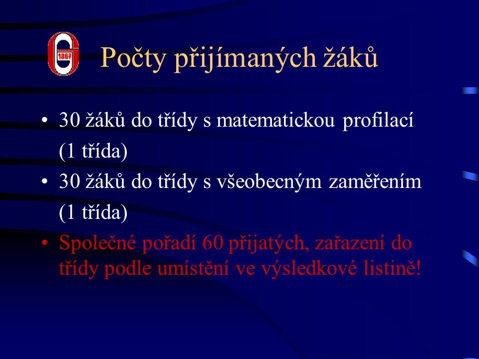 Kritéria přijímacího řízení Prospěch na ZŠ (max.10 b.) –2.
