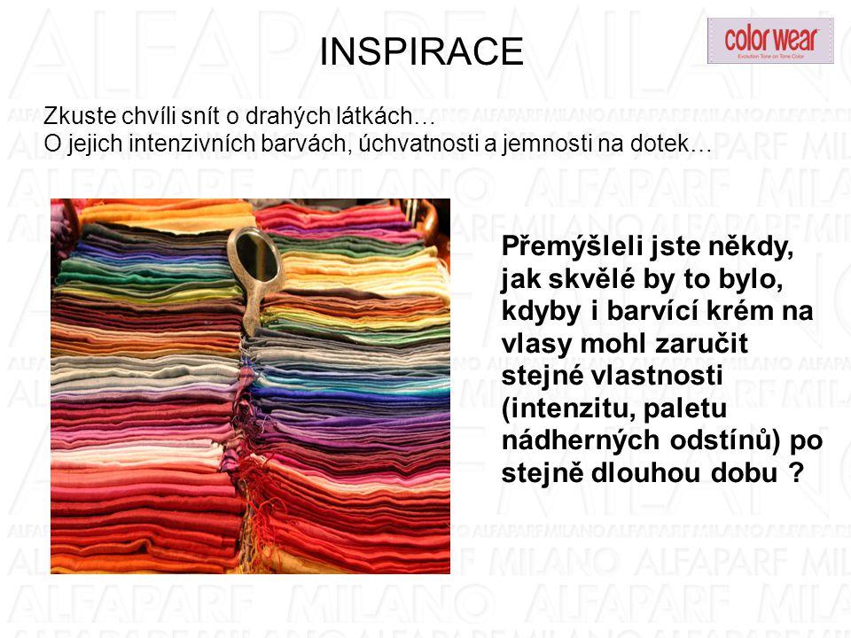 INSPIRACE Zkuste chvíli snít o drahých látkách… O jejich intenzivních barvách, úchvatnosti a jemnosti na dotek… Přemýšleli jste někdy, jak skvělé by t
