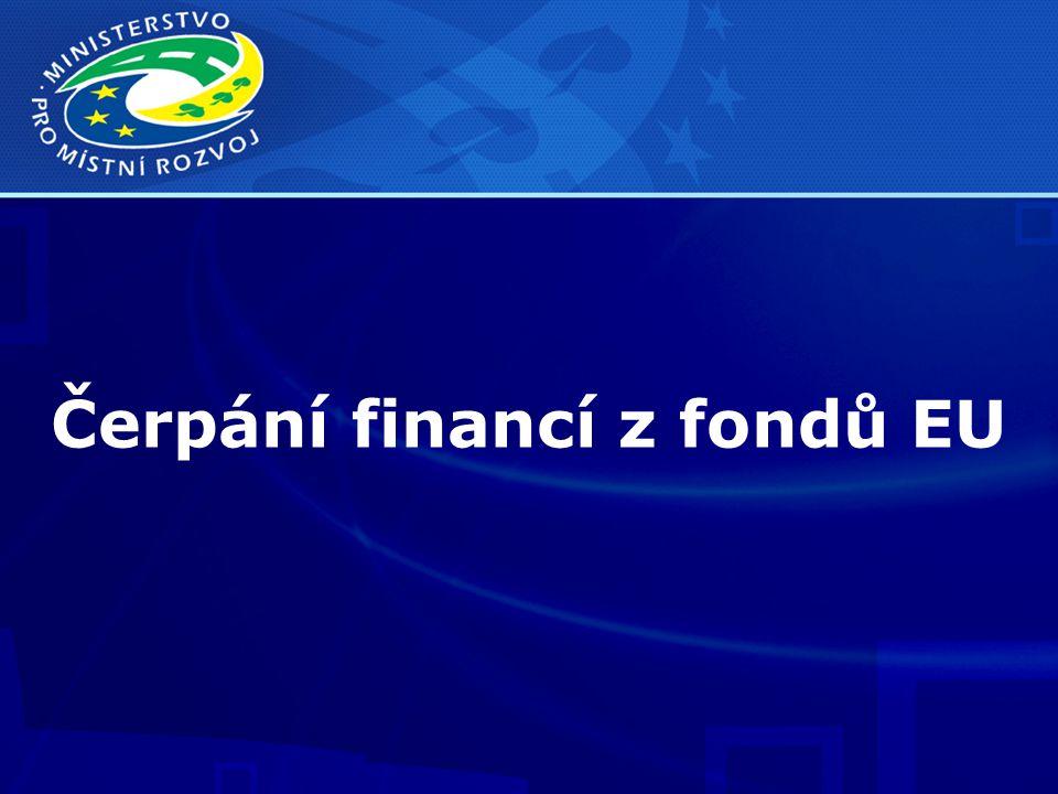 Čerpání financí z fondů EU