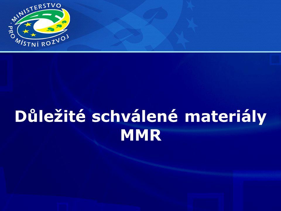 Důležité schválené materiály MMR