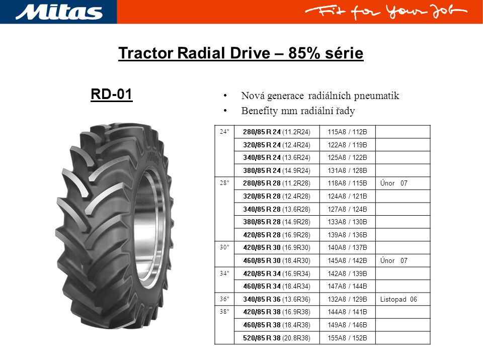 Tractor Radial Drive – 85% série 24