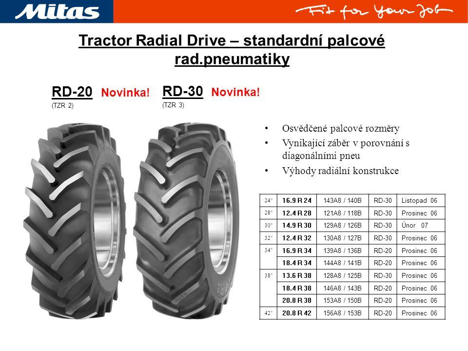 RD-20 Novinka! (TZR 2) RD-30 Novinka! (TZR 3) Tractor Radial Drive – standardní palcové rad.pneumatiky 24